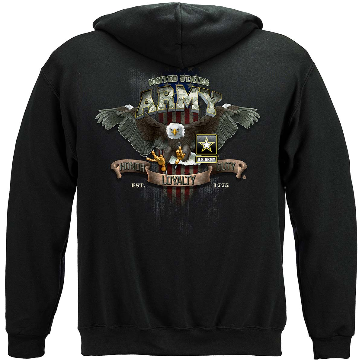 Army Loyalty Eagle Premium Hooded Sweat Shirt