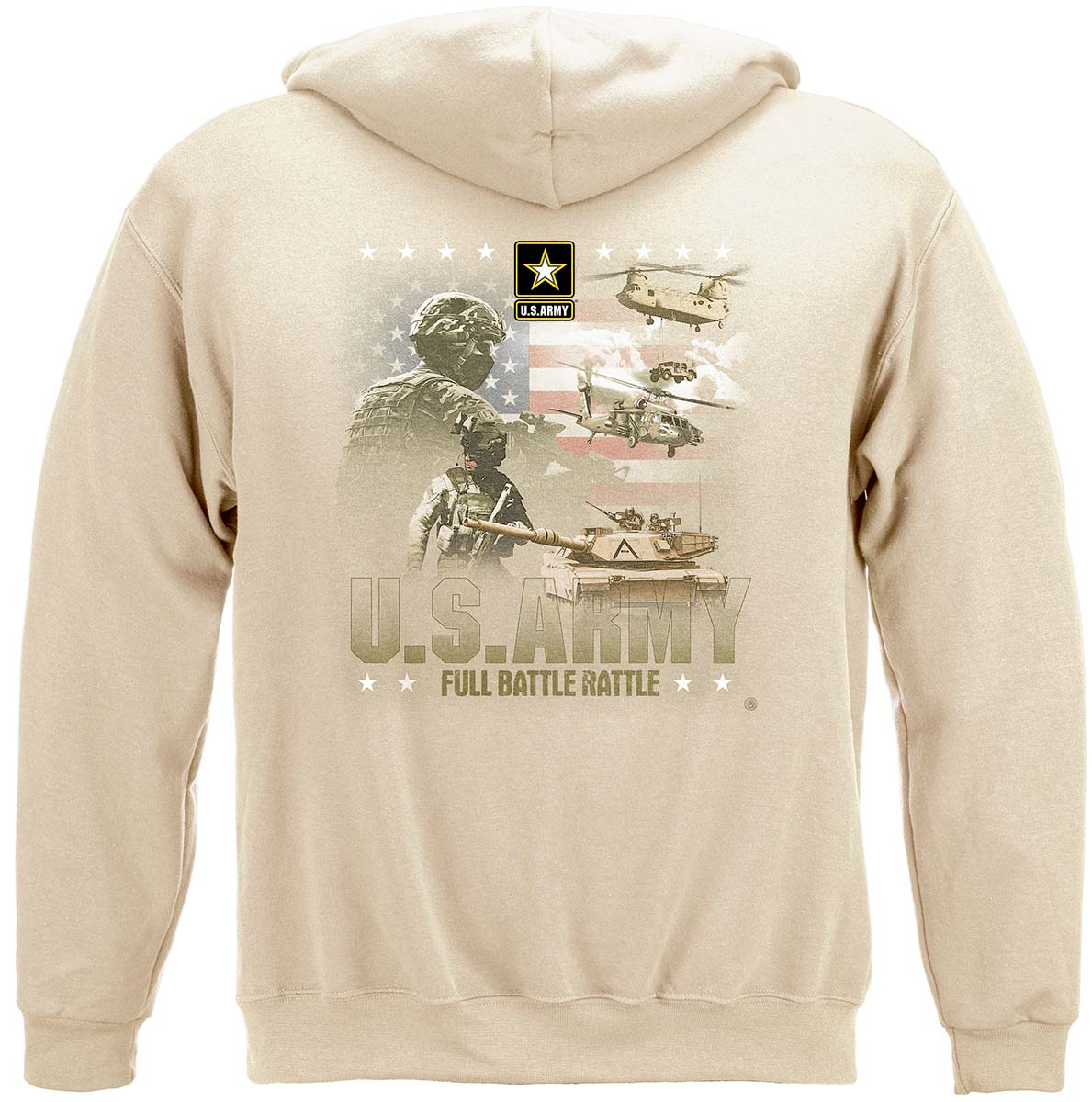 Army Full Battle Rattle Premium Hooded Sweat Shirt