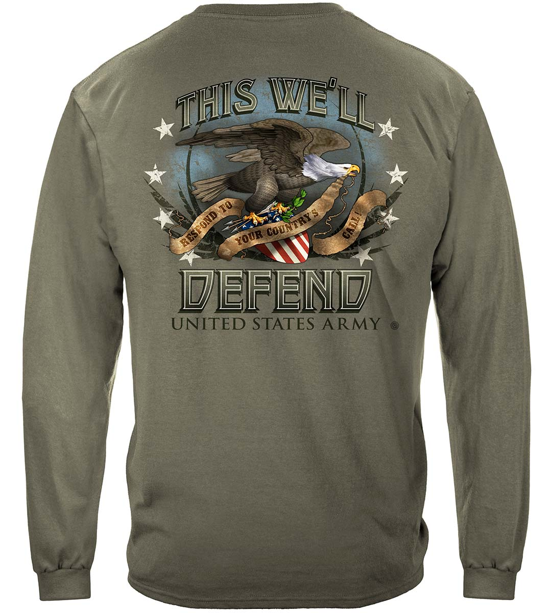 Army Respond To Your Country Call Premium Long Sleeves