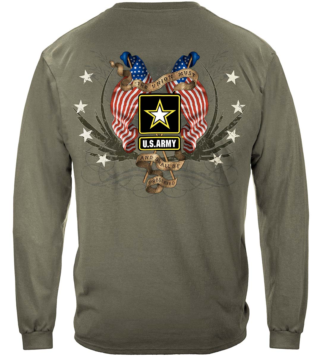 Army Star Double Four Star Double Flag Premium Long Sleeves