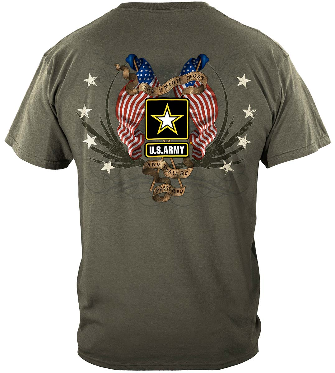 Army Star Double Four Star Double Flag Premium T-Shirt
