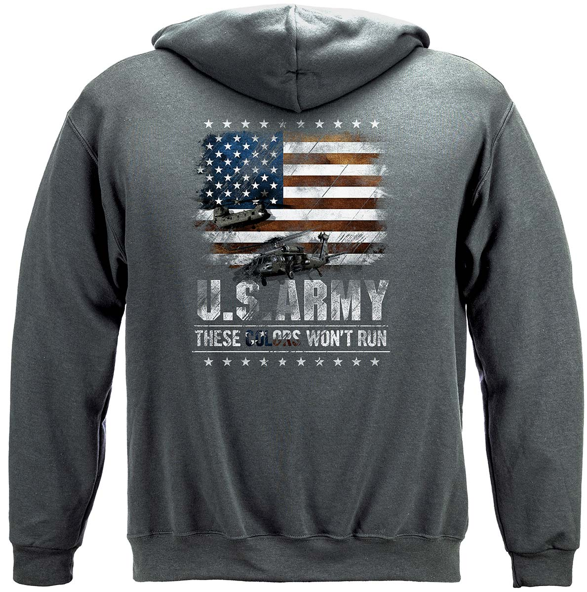 Army These Color Don't Run Premium Hooded Sweat Shirt