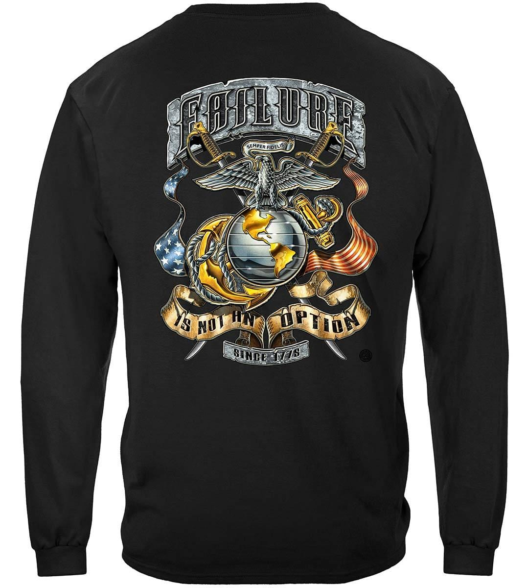 USMC Failure Is Not An Option Premium Long Sleeves