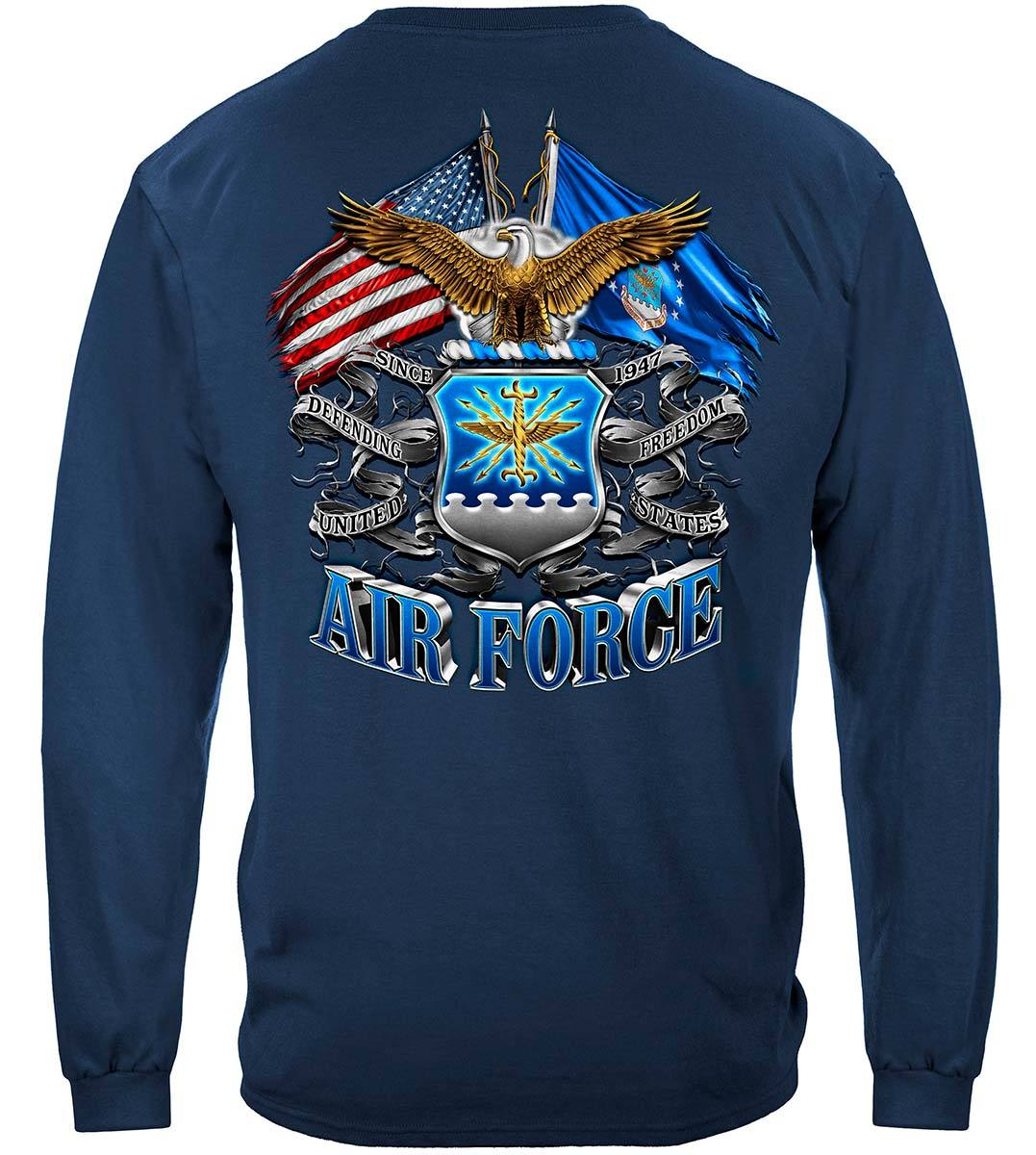 Double Flag Air Force Eagle Premium Long Sleeves