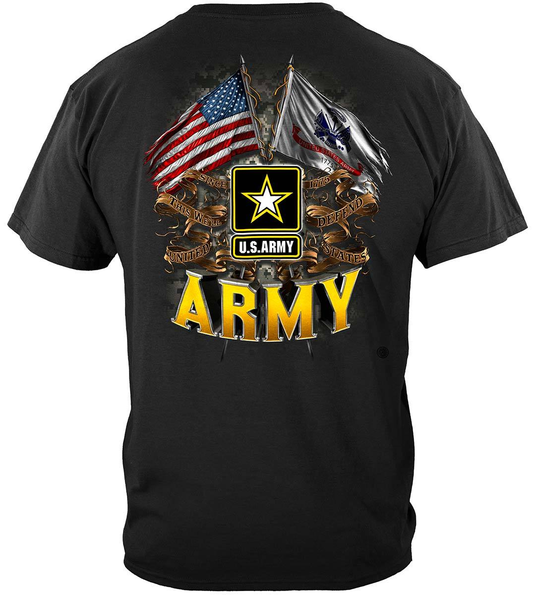 Army Double Flag Us Army Premium T-Shirt