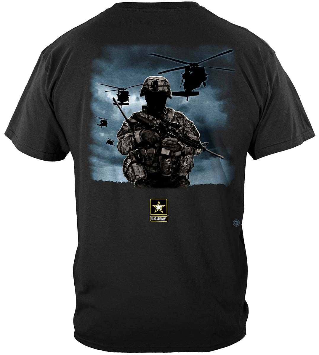 Army Strong Helicopter Solider Premium Long Sleeves