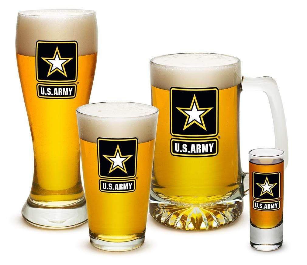 Army Star Logo 4 Piece Glass Gift Set