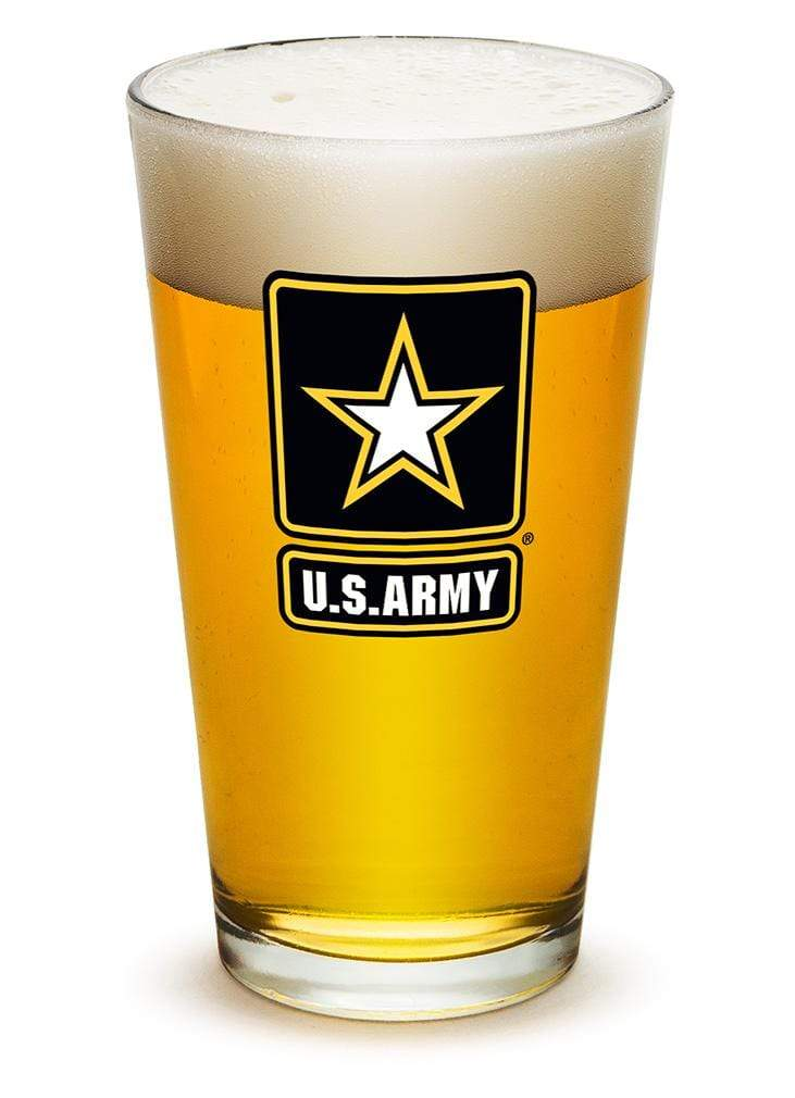 Army Star Logo 16oz Pint Glass Glass Set