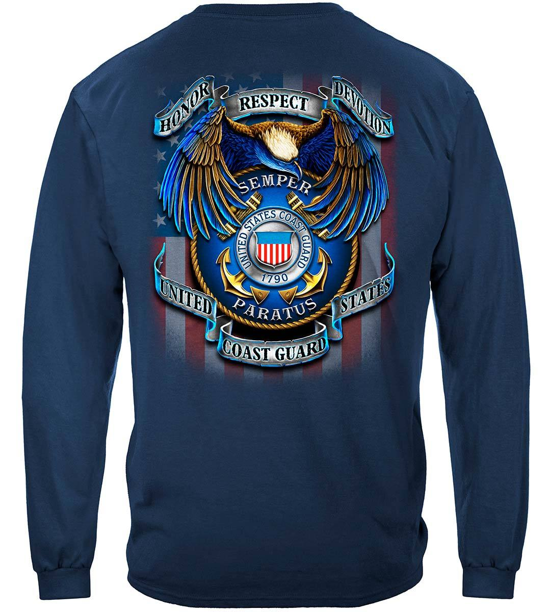 True Heroes Coast Guard Premium Long Sleeves