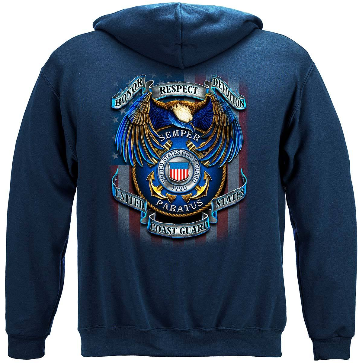 True Heroes Coast Guard Premium Hooded Sweat Shirt