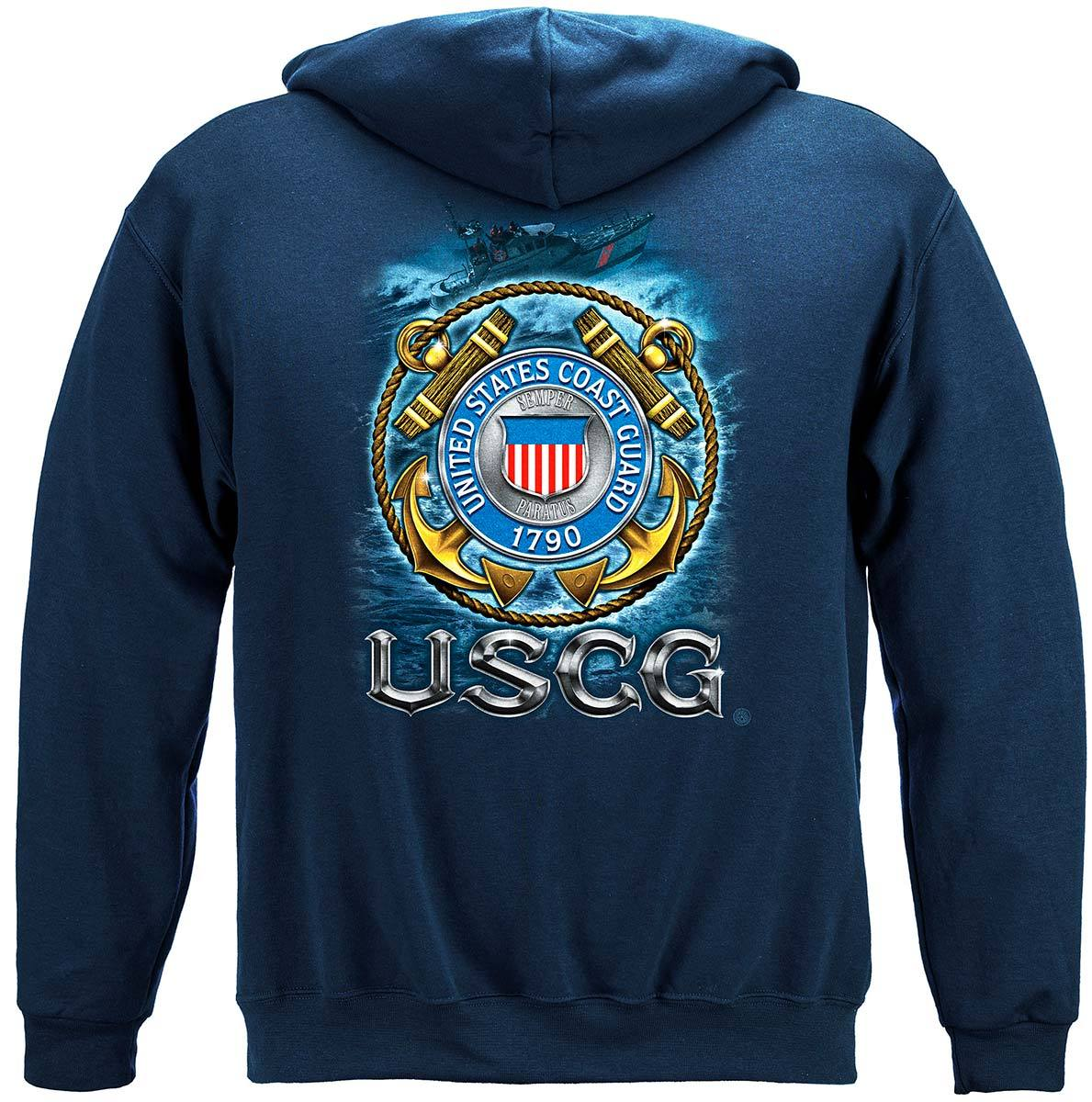 USCG Coast Guard Premium Hooded Sweat Shirt