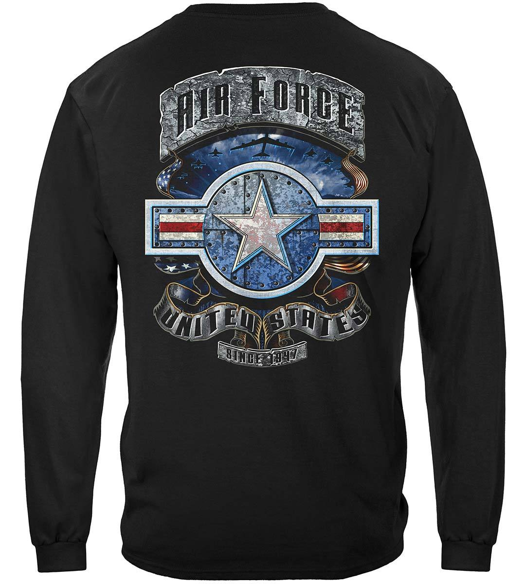 Air Force In Stone One Star Premium Long Sleeves