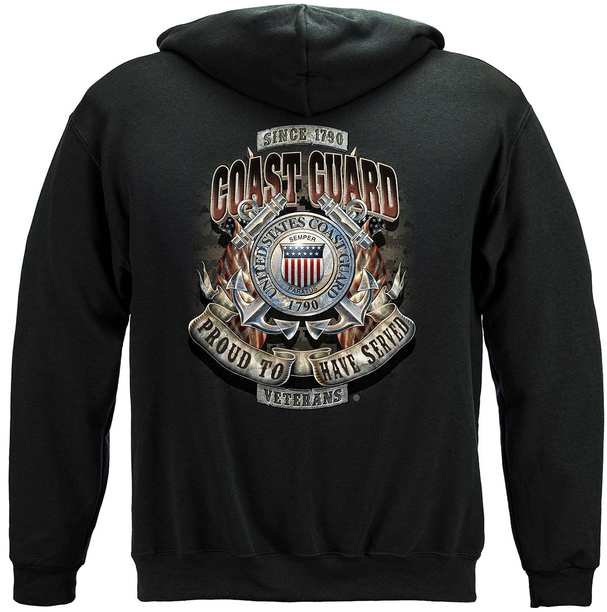 Coast Guard Proud To Have Served Premium Hooded Sweat Shirt