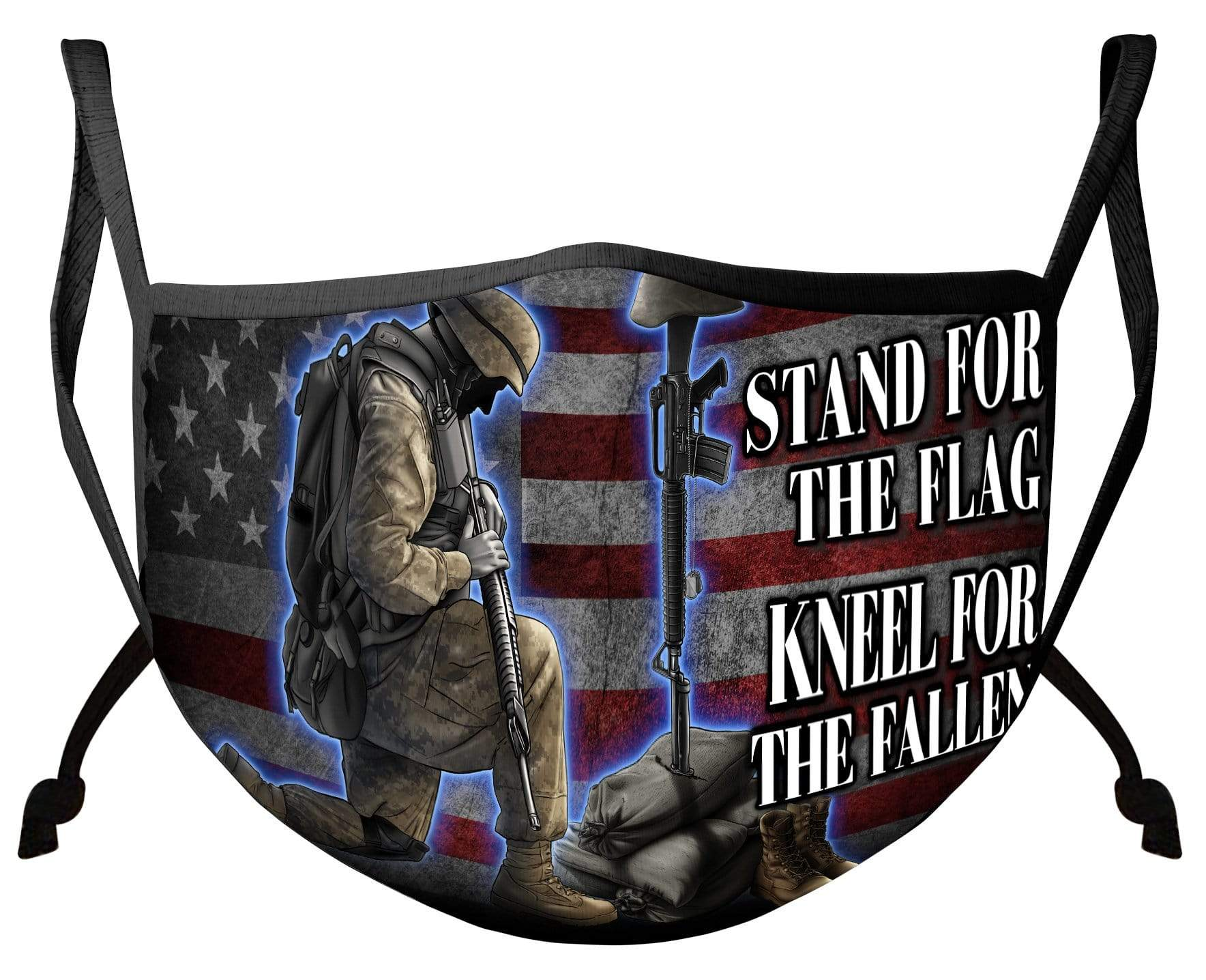 I Stand For The Flag Kneel For The Fallen Face Mask