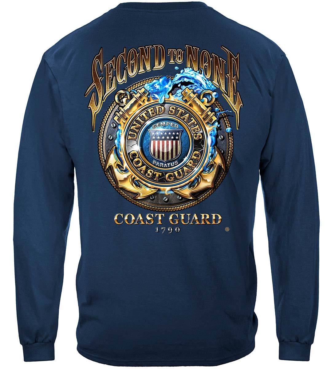 US Coast Guard Second To None Premium T-Shirt