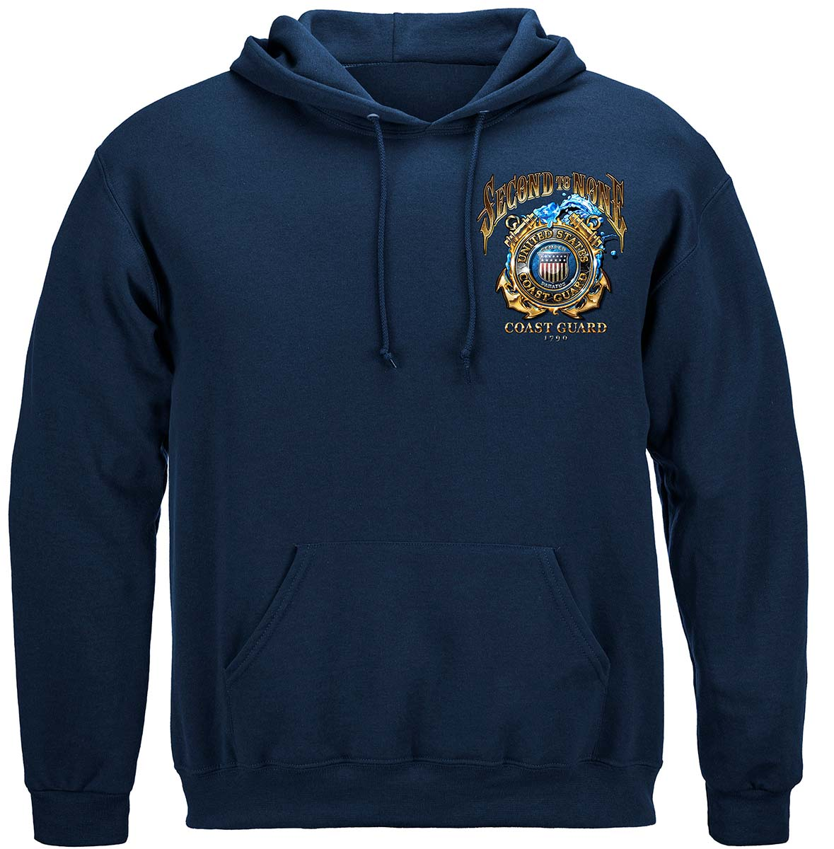 US Coast Guard Second To None Premium Hooded Sweat Shirt