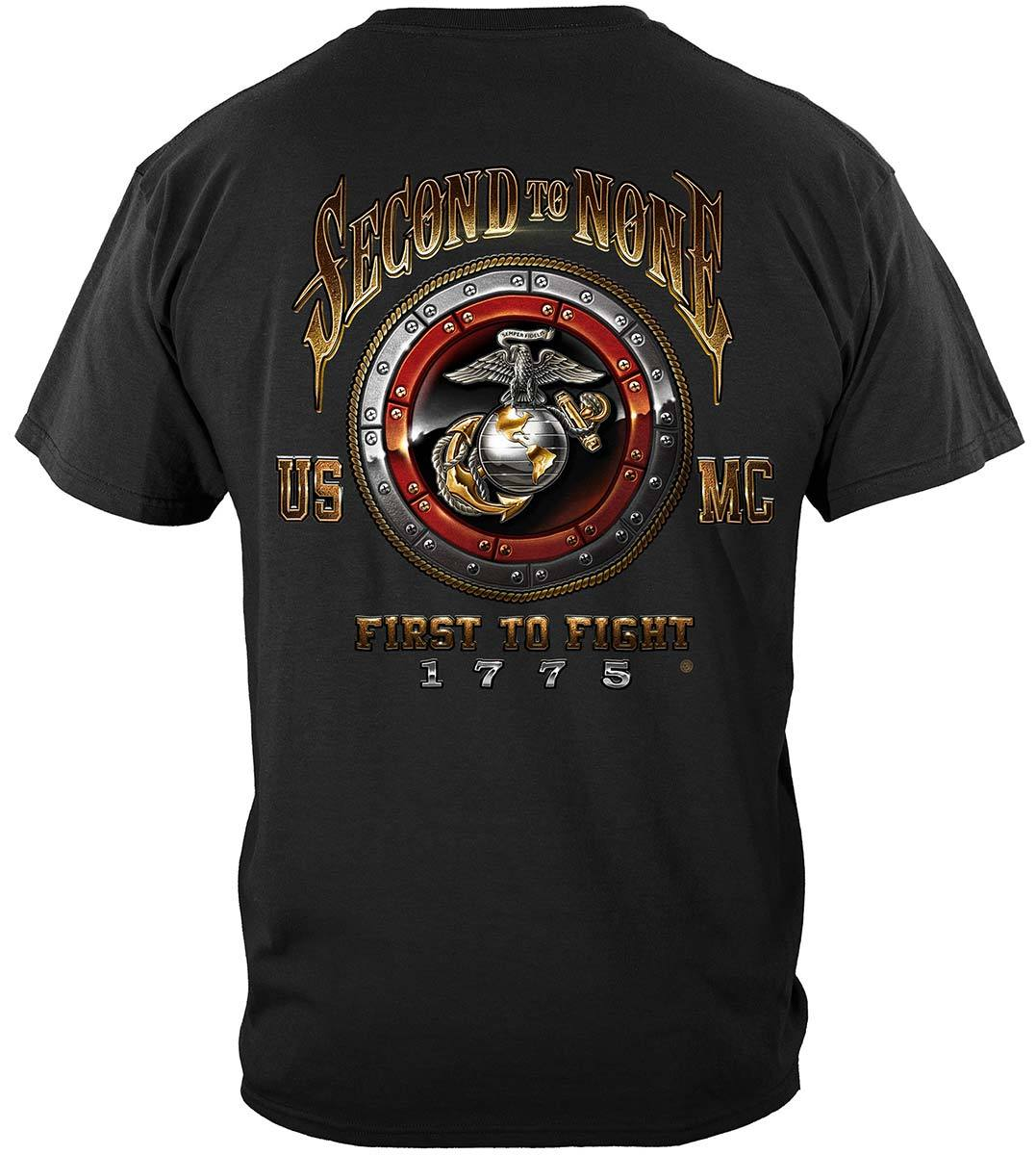 USMC Second To None Premium T-Shirt