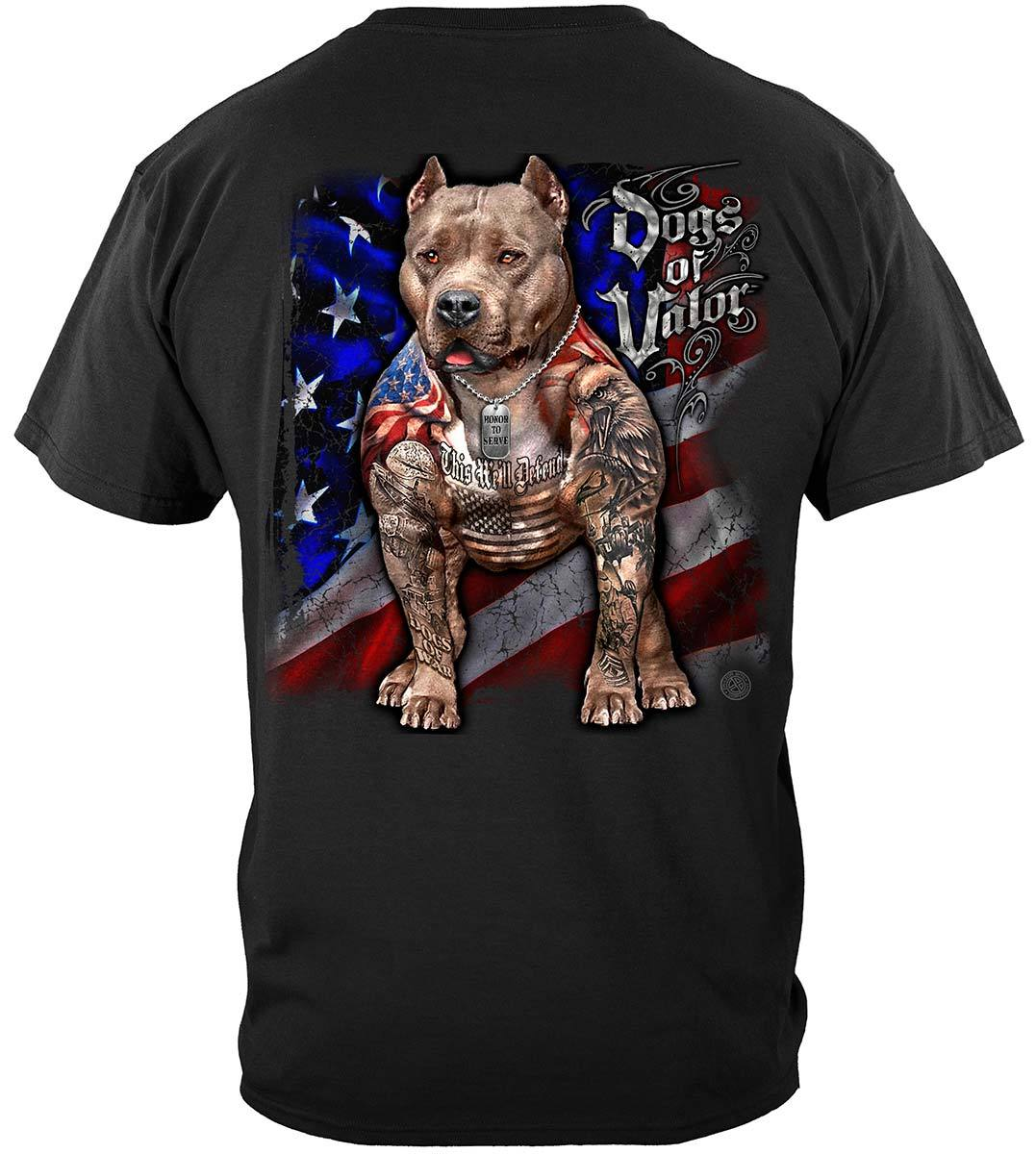 Dogs Of Valor This We'll Defend Pit Bull Premium T-Shirt