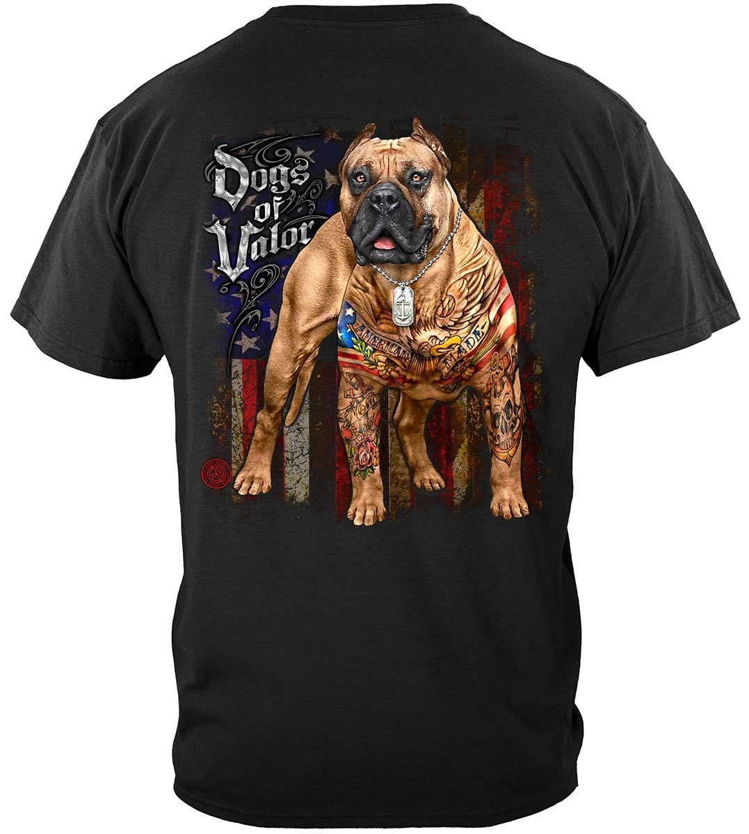 Dogs Of Valor American Made Pit Bull Premium Long Sleeves