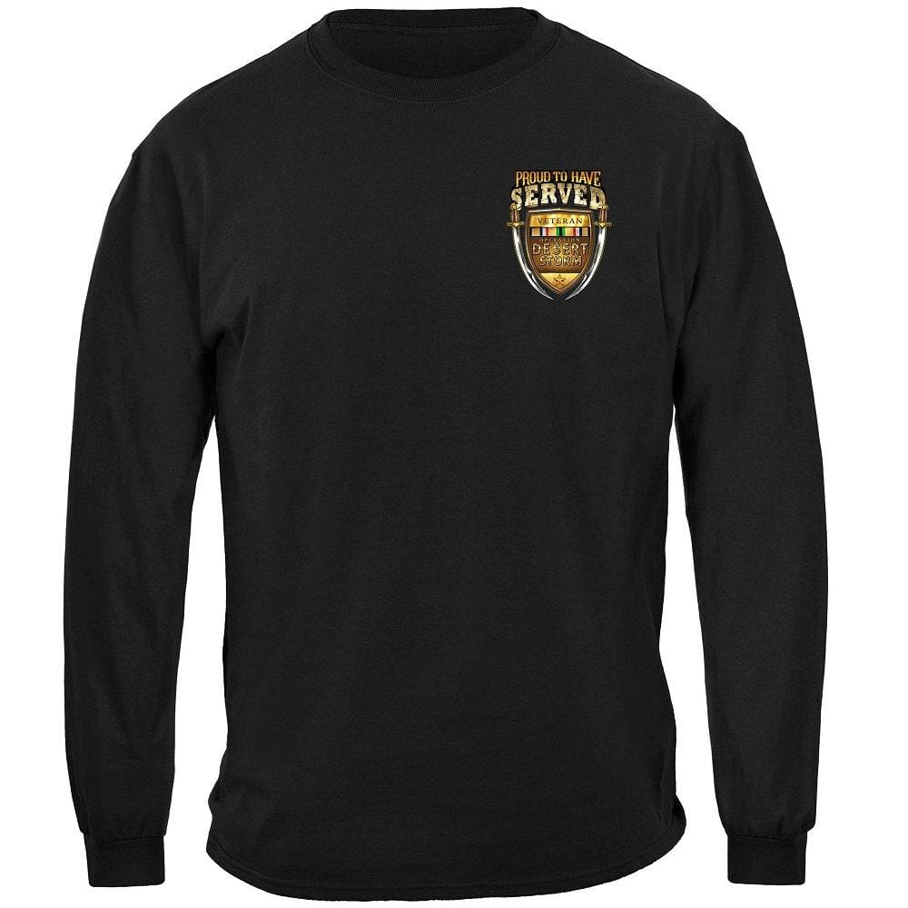 Desert Storm Proud To Have Served Premium Men's Long Sleeve