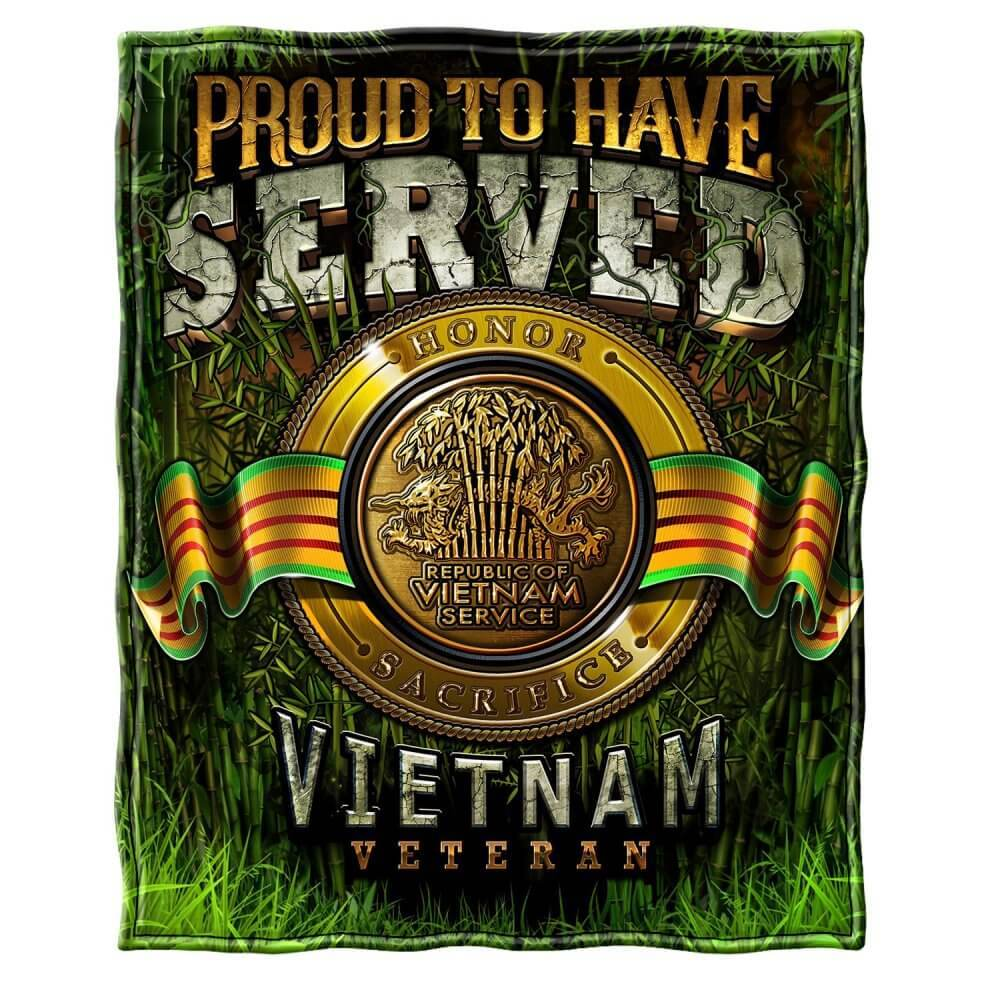 Vietnam Proud To Have Served Blanket