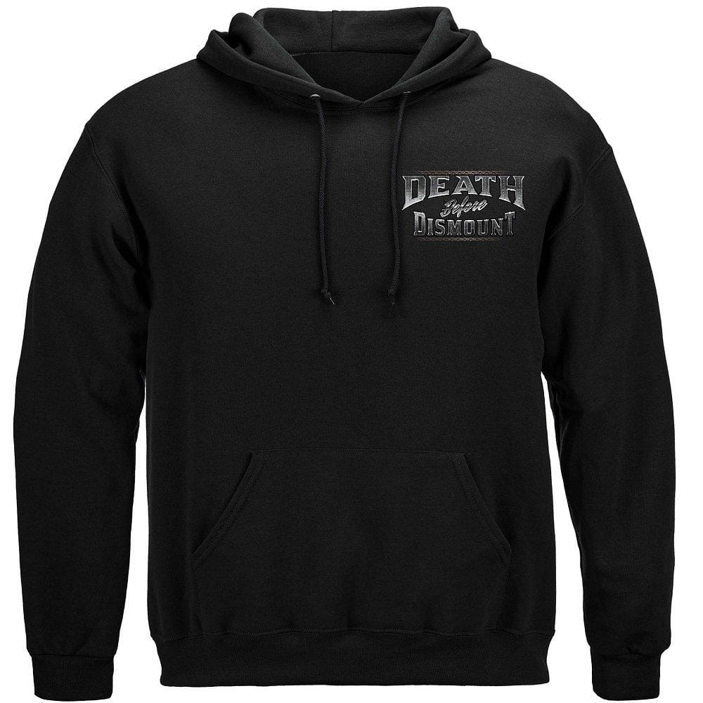 Death Before Dismount Premium Men's Hooded Sweat Shirt
