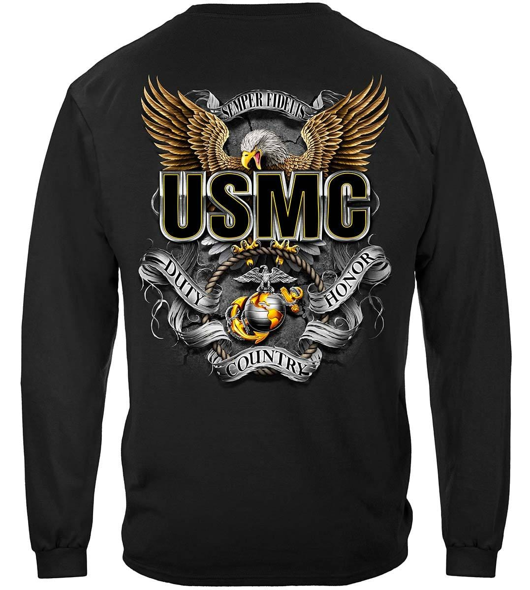 USMC Duty Honor Country Screaming Eagle Premium Long Sleeves