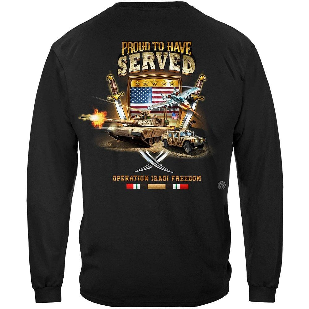 IRAQI Freedom Veteran Proud To Have Served Premium Men's Long Sleeve