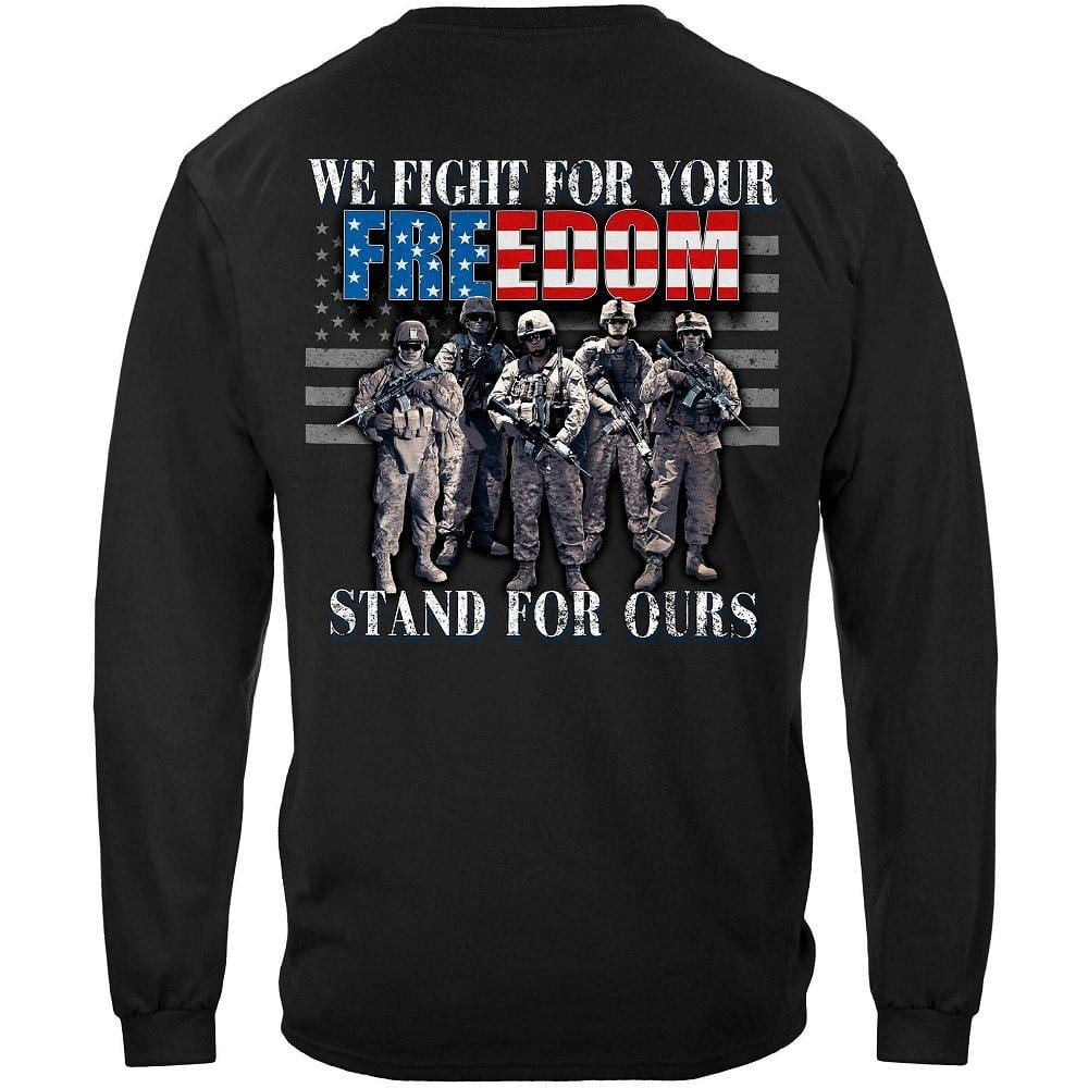 Stand For The Flag Fight For Our Freedom Premium Men's Long Sleeve