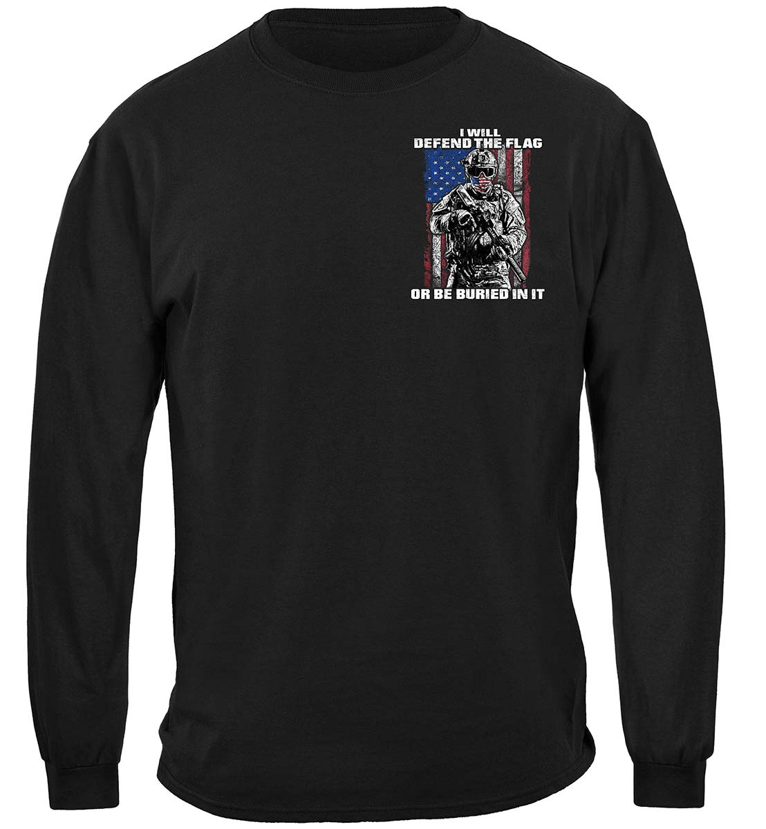 American Flag Defend Or Be Buried Or Be Buried In It Premium Long Sleeves