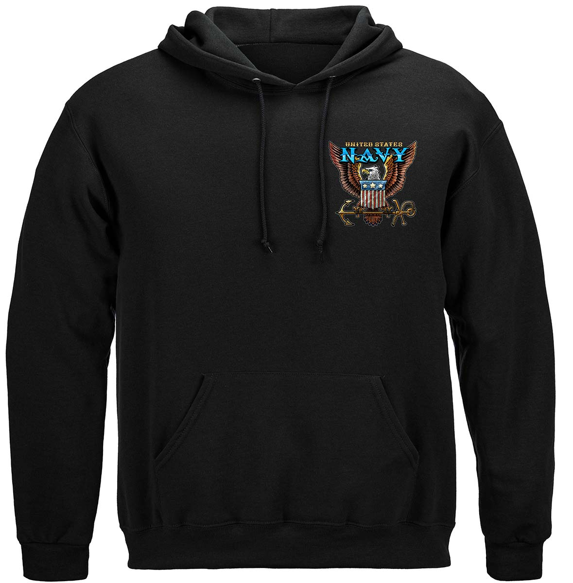 US NAVY Vintage Tattoo Classic Logo United States Navy USN Premium Hooded Sweat Shirt