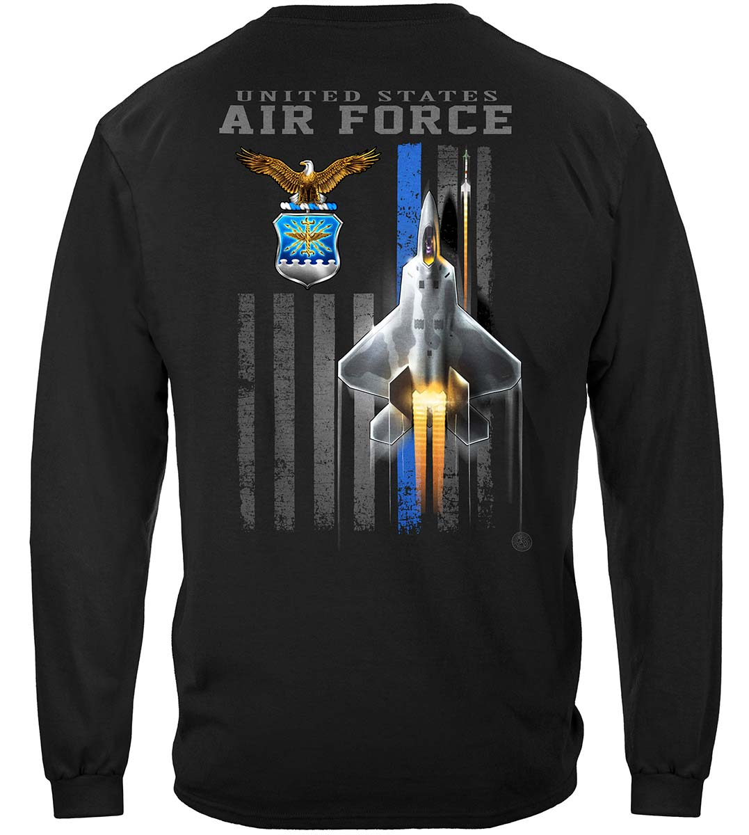 Air Force Patriotic Flag Premium Long Sleeves