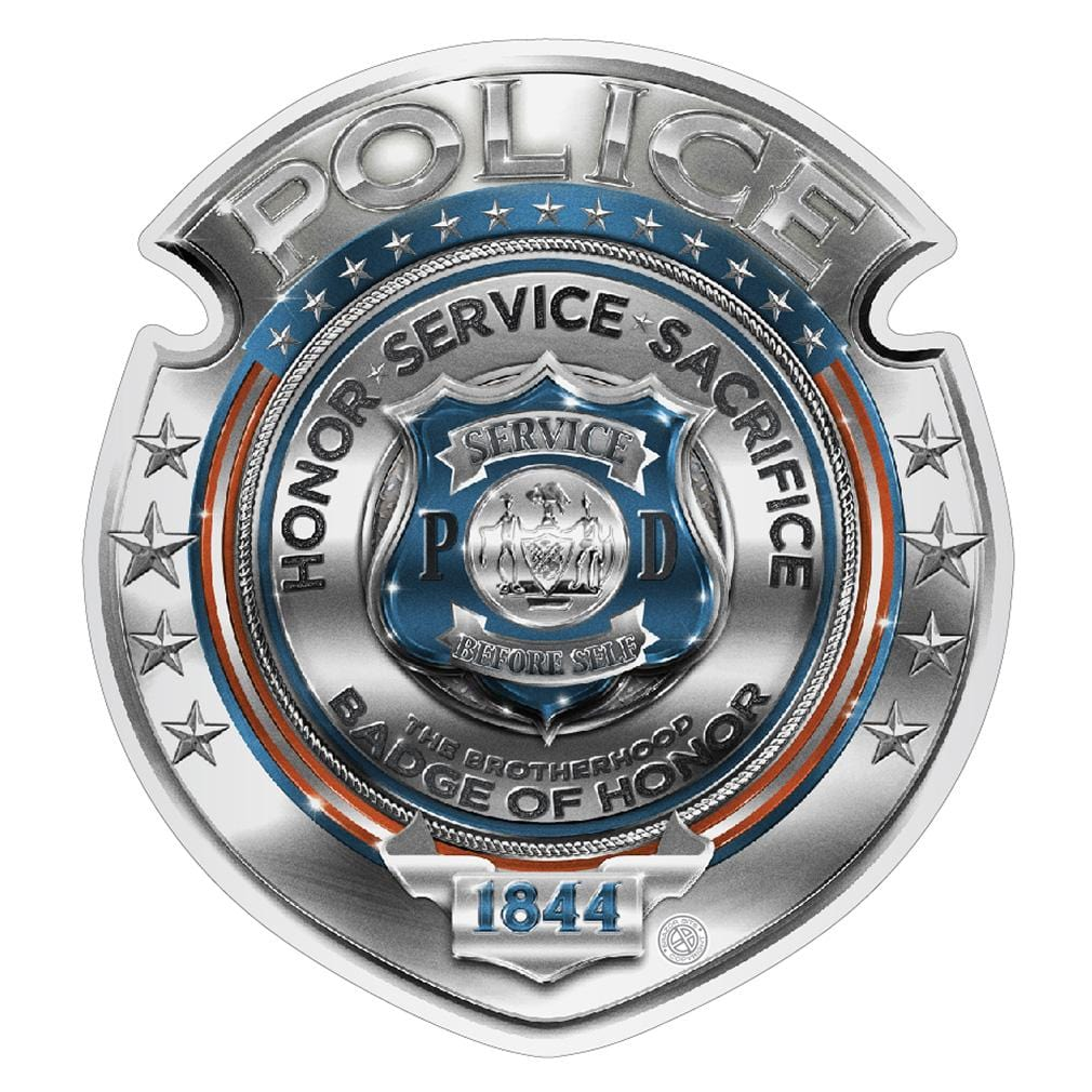 Police Honor Courage sacrifice badge Premium Reflective Decal