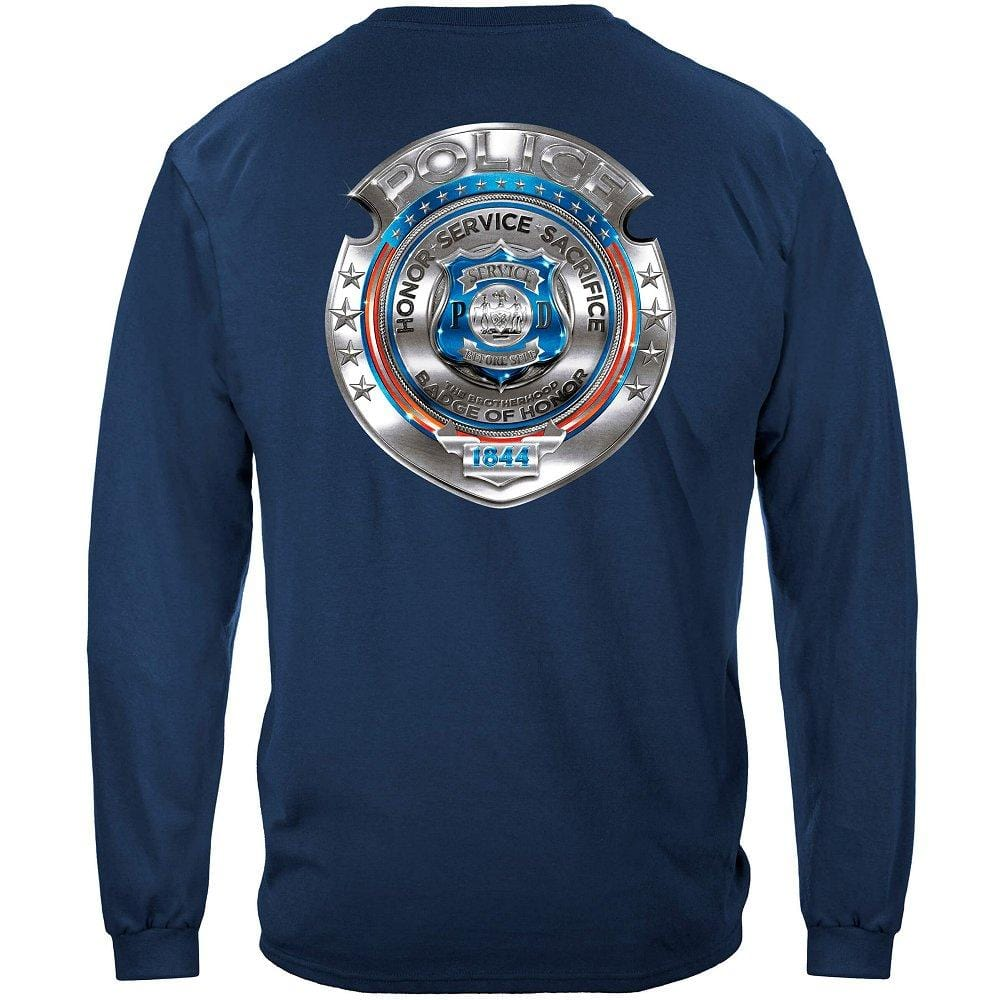 Police Honor Courage Sacrifice Badge Premium Long Sleeves