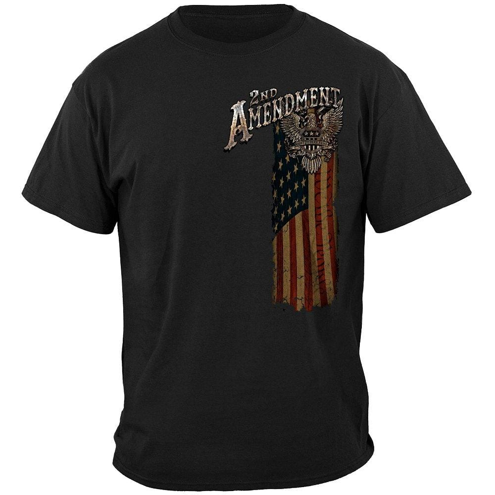 2nd Amendment Eagle Silver Foil Premium T-Shirt