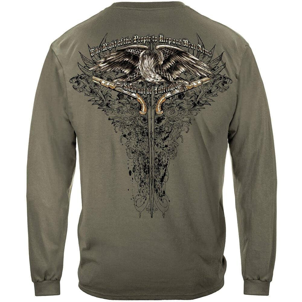 2nd Amendment Eagle Tattoo Premium Men's Long Sleeve
