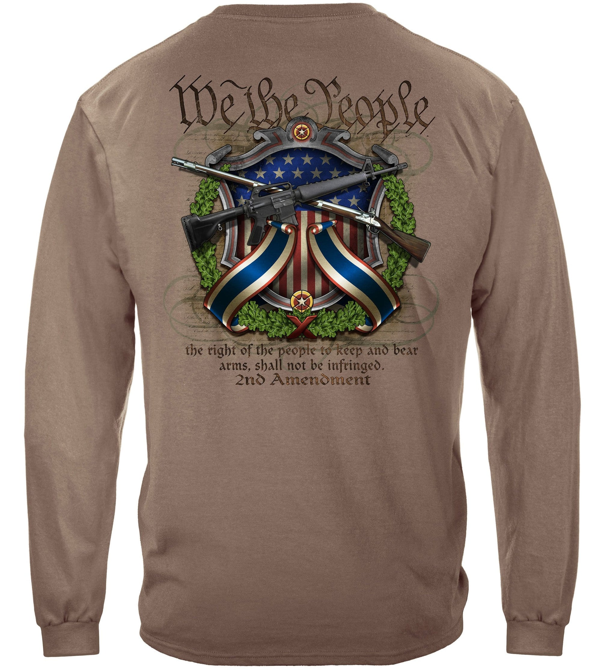 We The People 2nd Amendment Crossed Arms Premium Men's Long Sleeve