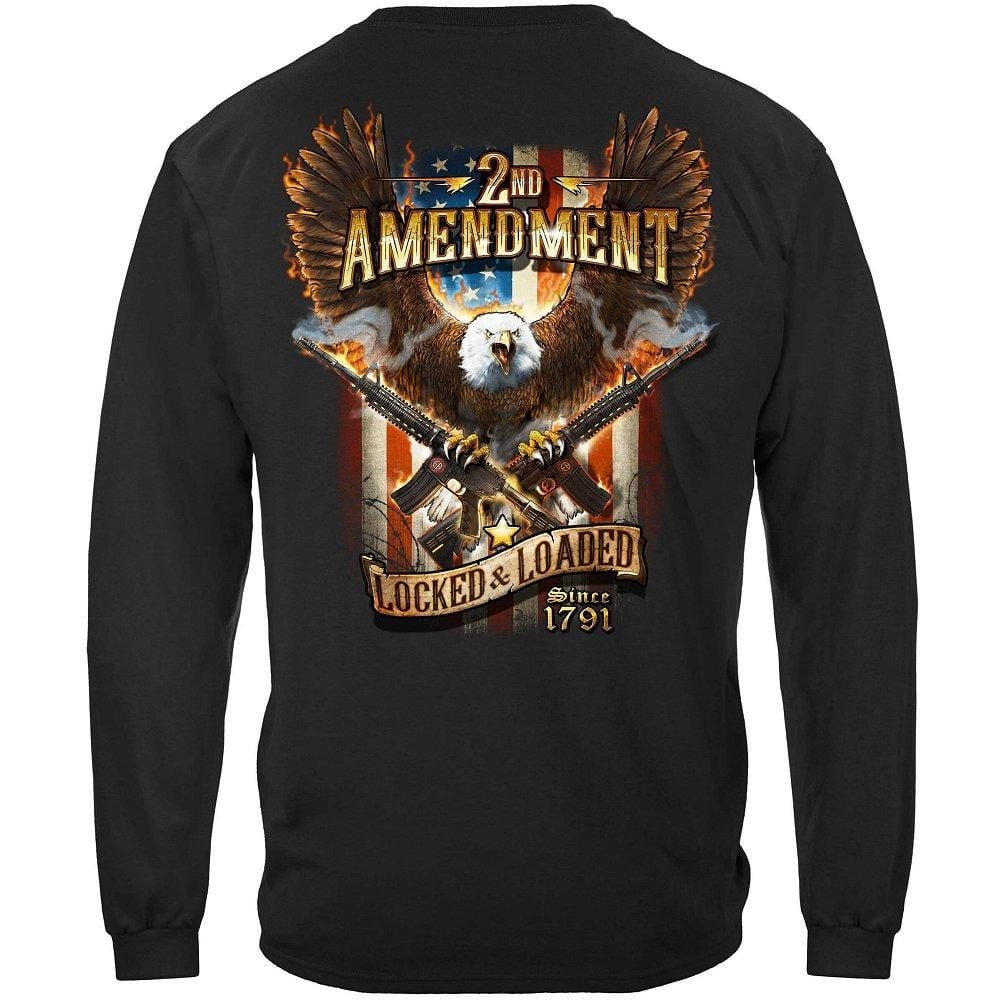 2nd Amendment Attack Eagle With Double AR15 Premium Men's Long Sleeve