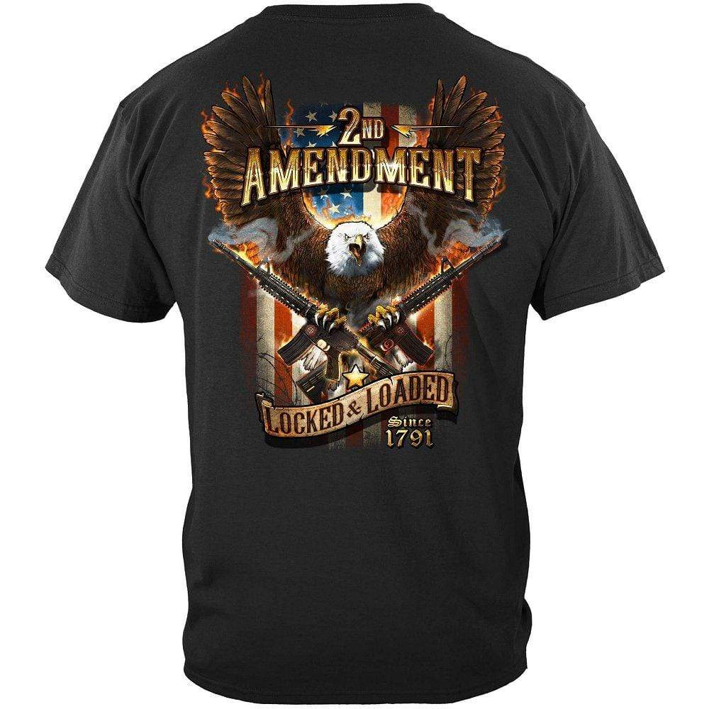 2nd Amendment Attack Eagle With Double AR15 Premium Men's T-Shirt