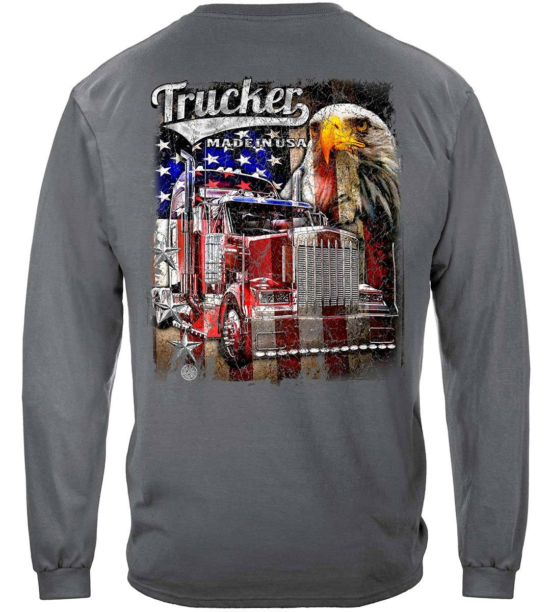 Trucker American Pride Flag Premium Long Sleeves