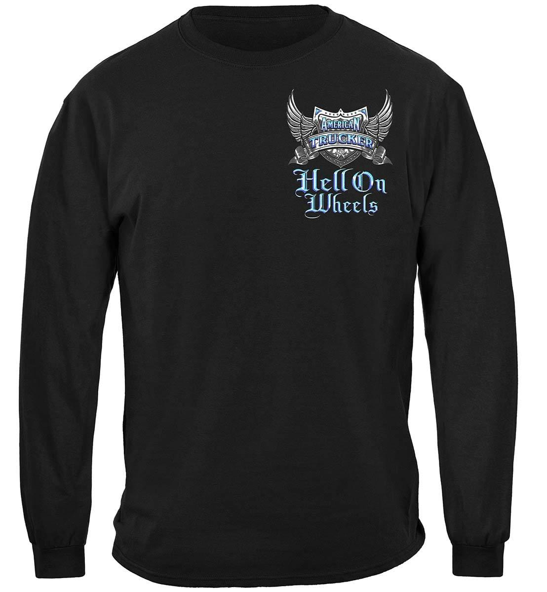 Trucker Hell On Wheels Premium Hooded Sweat Shirt