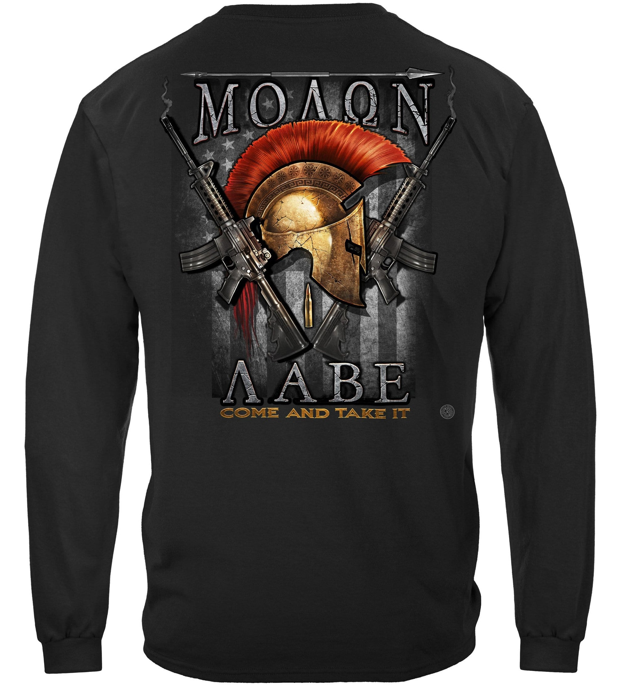 2nd Amendment Molon Labe Premium Men's Long Sleeve