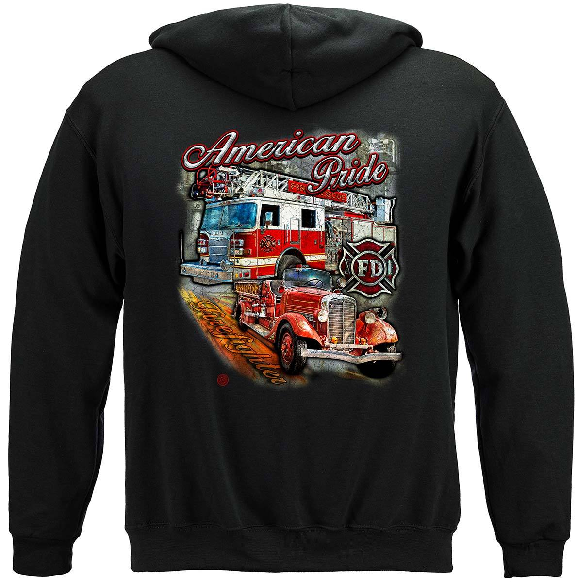 American Pride Firefighter Premium Hooded Sweat Shirt