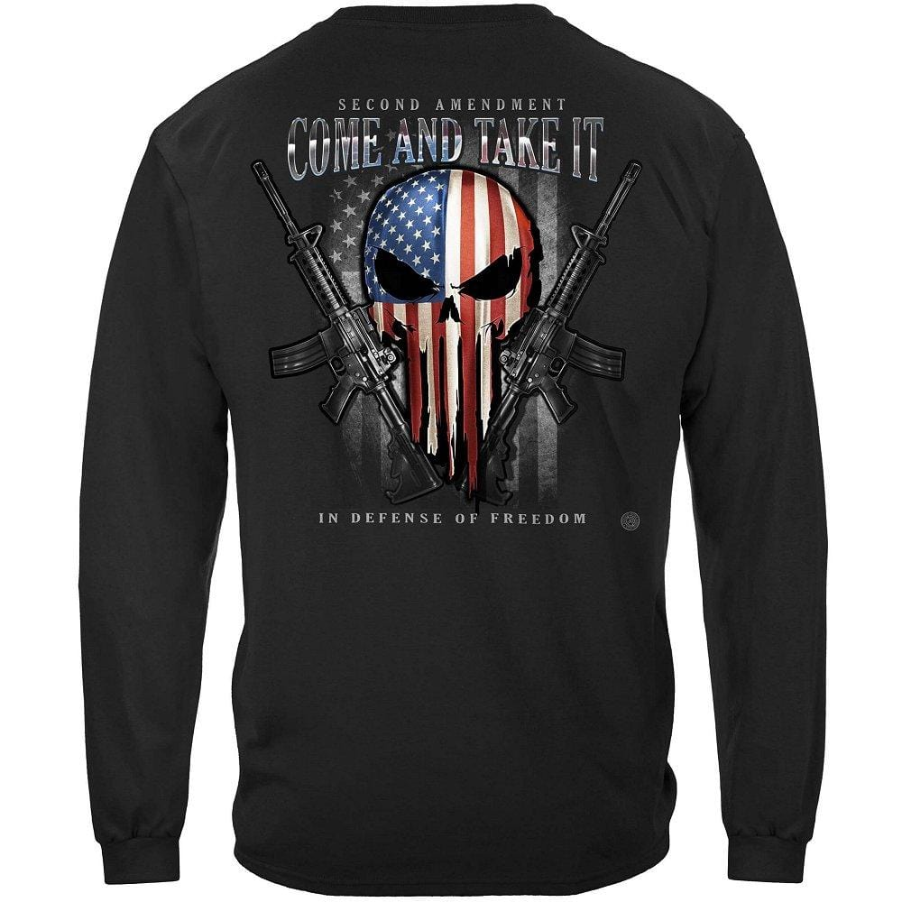 2nd Amendment Skull Of Freedom Long Sleeve