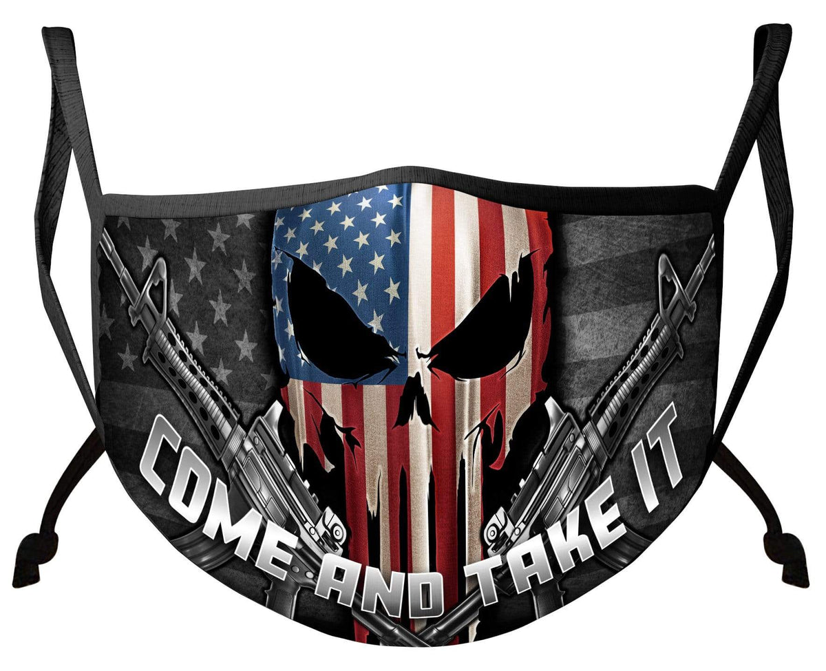 2nd Amendment Skull Of Freedom Face Mask