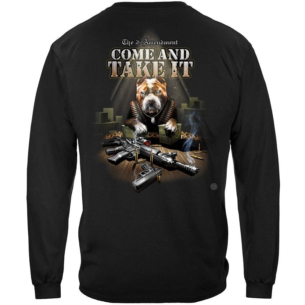 Come And Take It Pit Bull Premium Men's Long Sleeve