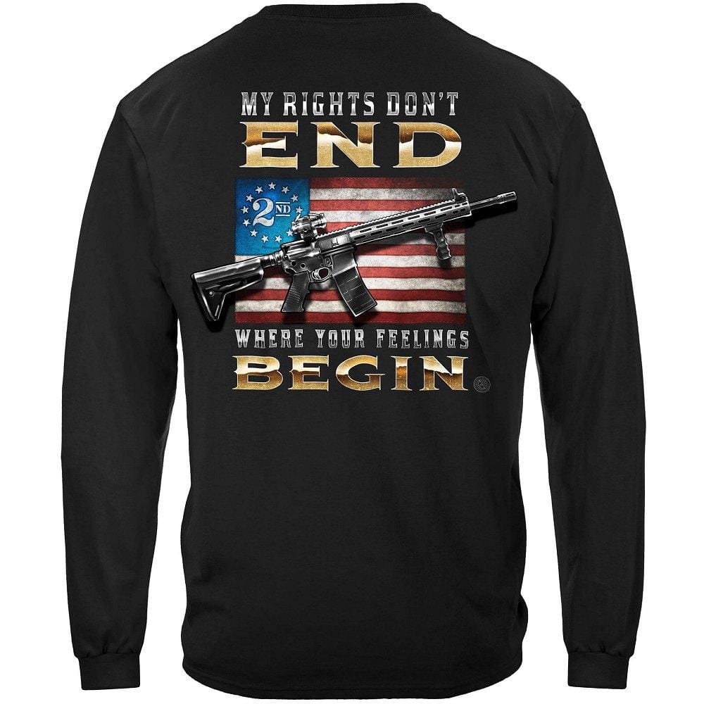 2nd Amendment My Rights Don't end Premium Long Sleeves