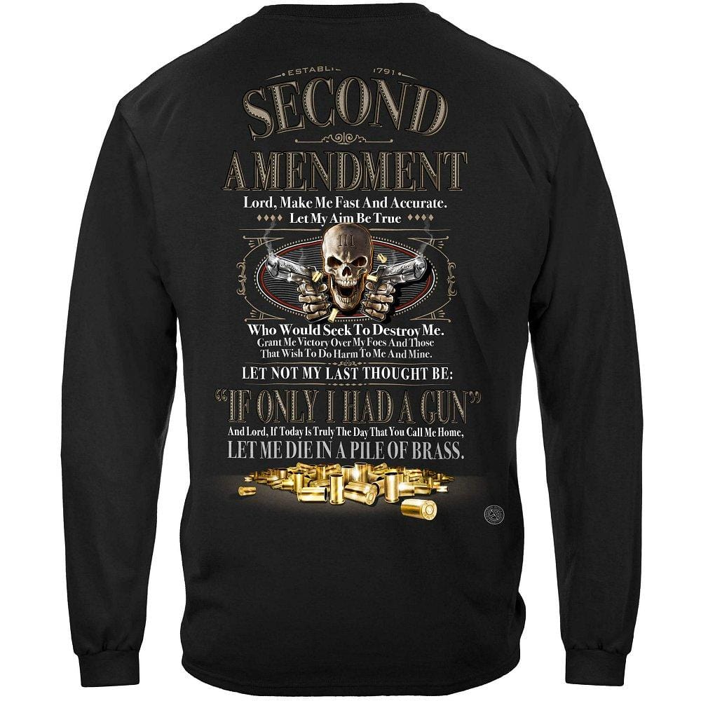 2nd Amendment If Only I Had a Gun Premium Long Sleeves