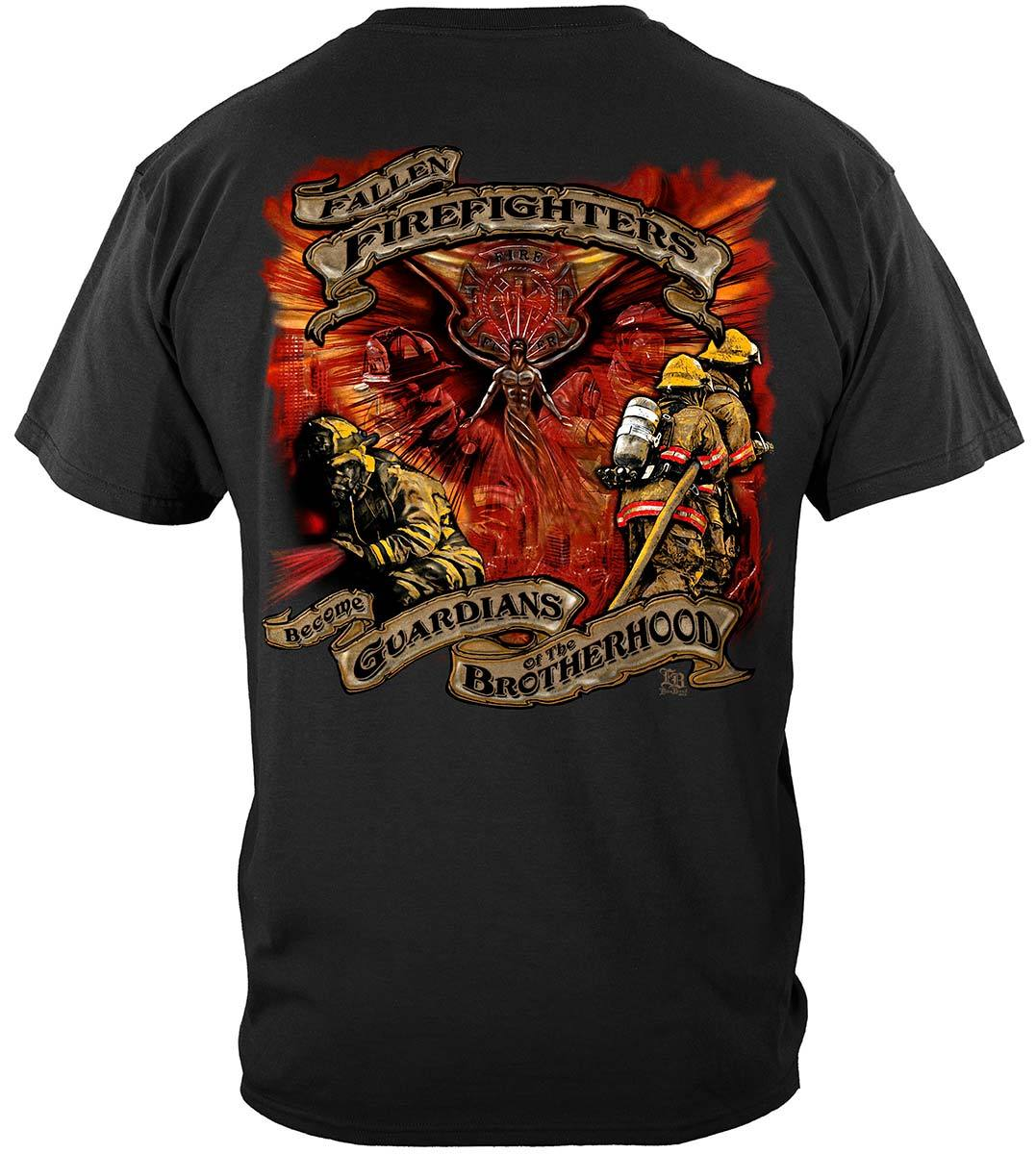 Fallen Firefighters Guardians T-Shirt Premium Long Sleeves