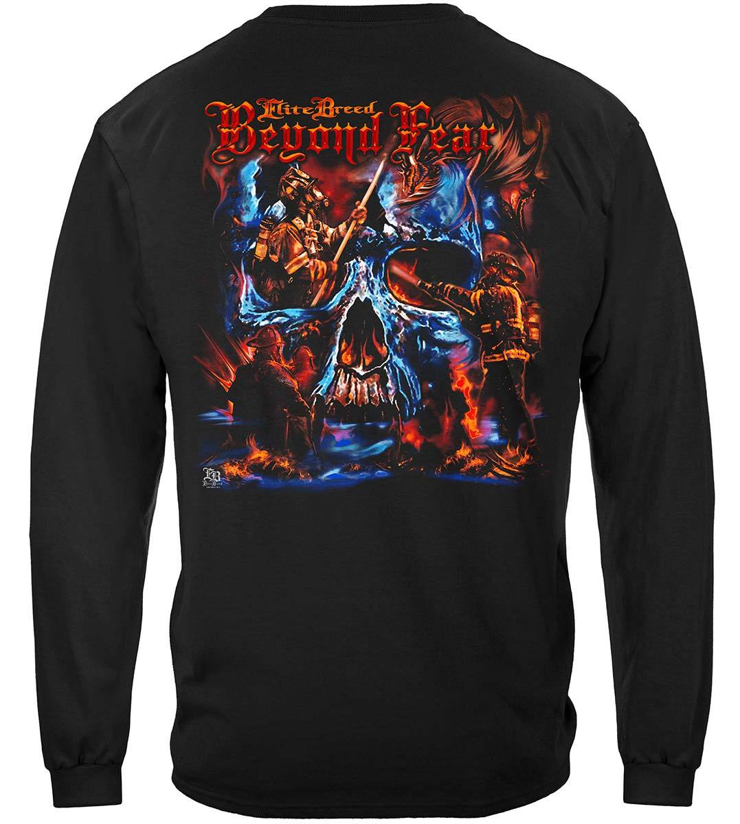 Elite Breed Beyond Fear Skull Premium Hooded Sweat Shirt